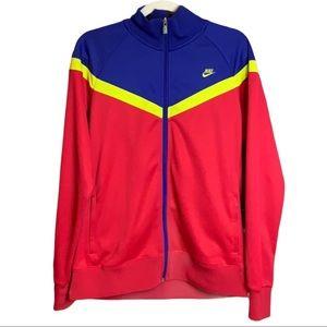 Nike Eugene Track Jacket Front Zip Colour Block